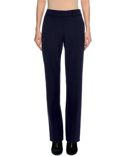 Virgin Wool Straight-Leg Pants