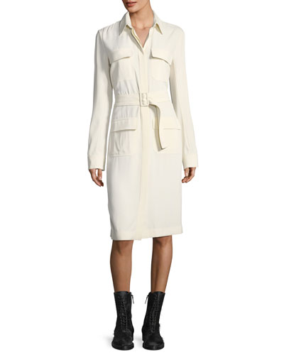 Leob Belted Shirtdress