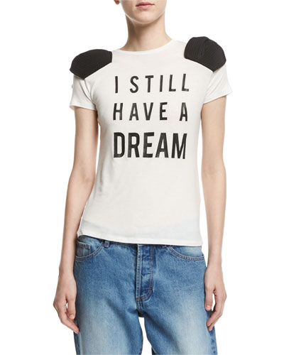 I Still Have a Dream Bow-Shoulder T-Shirt
