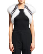 Striped Fox Fur Bolero