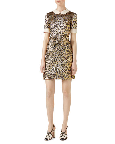 Leopard Lurex&Reg; Jacquard Dress, Multi Pattern