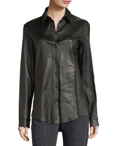 Nopa Leather Shirt Jacket