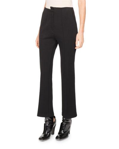 Asymmetric High-Waist Kick-Flare Pants