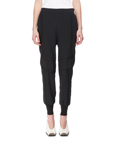 Libby Lace-Inset Jogger Pants