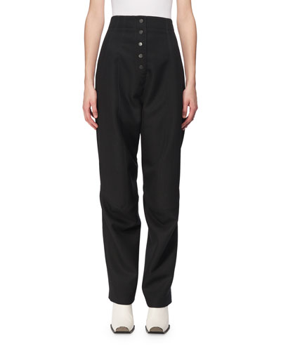 Fantine Wool High-Waist Trousers