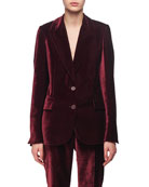 Velvet Two-Button Blazer