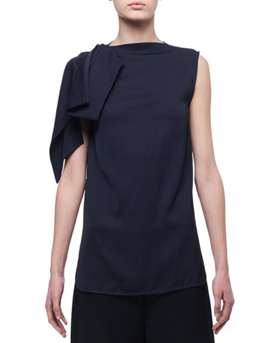 Asymmetric Sleeveless Jersey Top