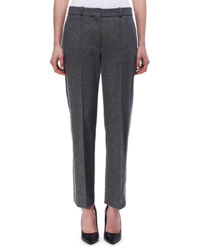 Paneled Wool-Cashmere Pants