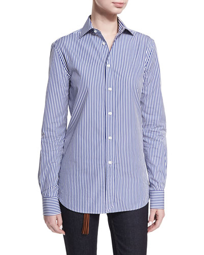 Aston Striped Cotton Shirt