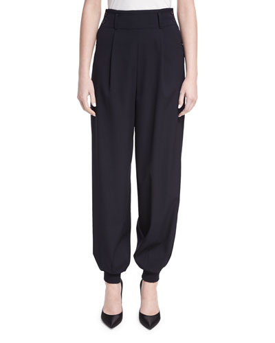 Silviana Virgin Wool Jogger Pants