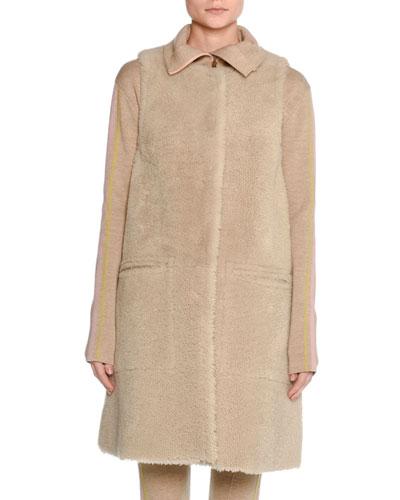 Long Shearling Fur Vest