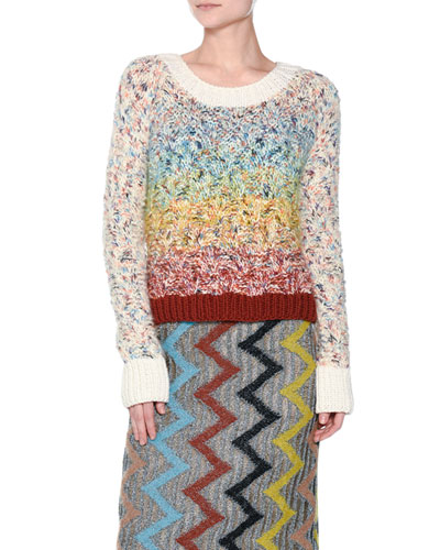 Rainbow Chunky Knit Sweater