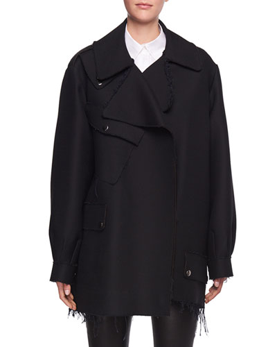Shamsta Raw-Edge Coat