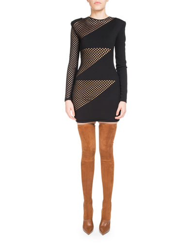 Mesh Triangle Mini Dress
