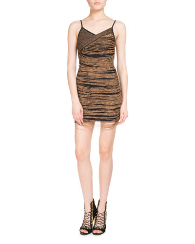 Chain-Wrap Slip Dress