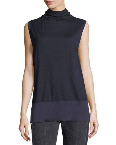 Aida Sleeveless Turtleneck Sweater