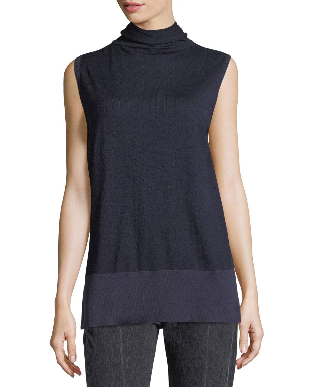 Aida Sleeveless Turtleneck Sweater
