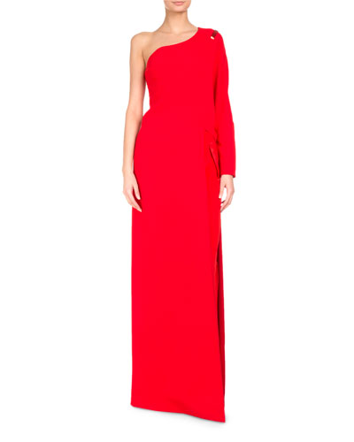 One-Shoulder Cady Floor-Length Top