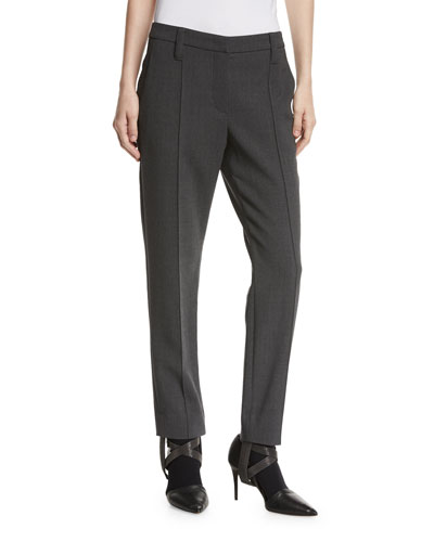 Wool Crepe Monili-Stirrup Pants
