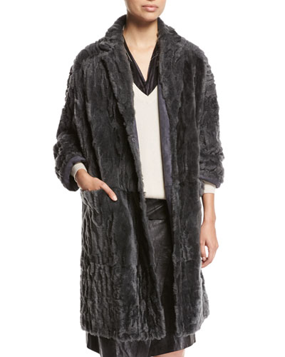 Animale Reversible Shearling Coat