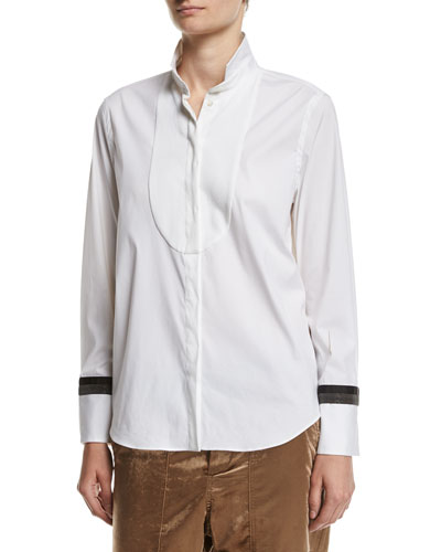Poplin Blouse with Monili Cuffs