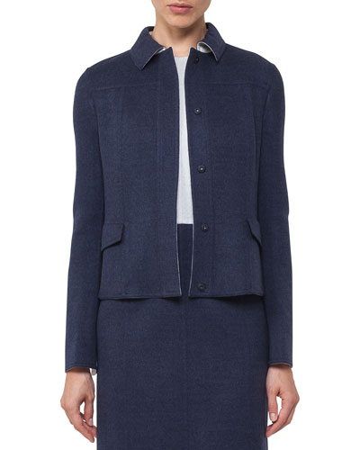 Lena Reversible Bicolor Wool Jacket