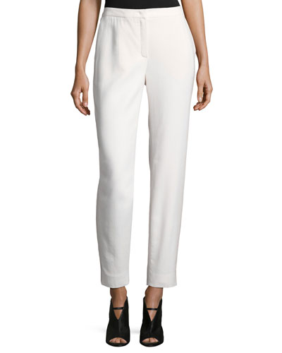 Tamesne Wool Crepe Ankle Pants