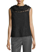 Chantilly Lace Cowl-Neck Top