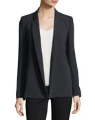 Open-Front Shawl-Collar Blazer