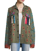 Love Embellished Army Jacket