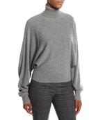 Cashmere Dolman-Sleeve Turtleneck Sweater