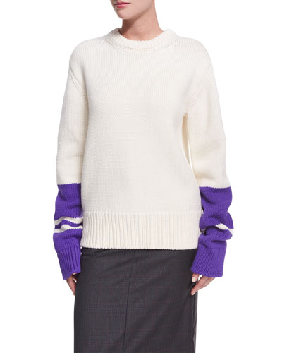 Striped Wool Chunky Pullover