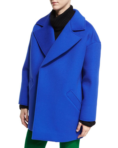 Oversized Notch-Collar Coat