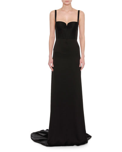 Silk Duchesse Satin Bustier Gown