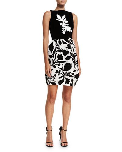 Sleeveless Bold Floral Dress