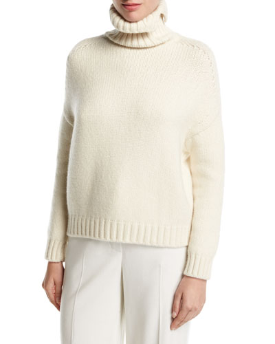 Cashmere-Blend Turtleneck Pullover Sweater