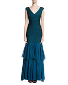 Augustina V-Neck Bandage Gown