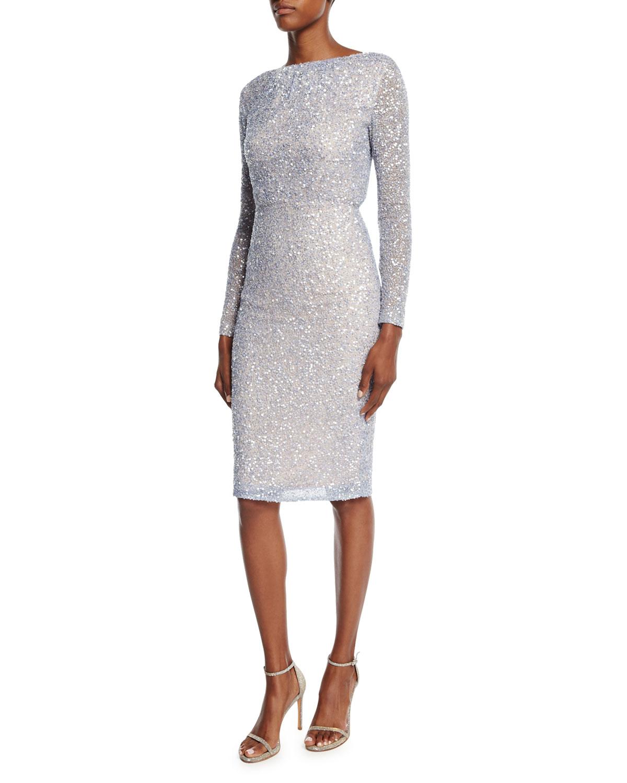 Viera Beaded & Sequined Dress