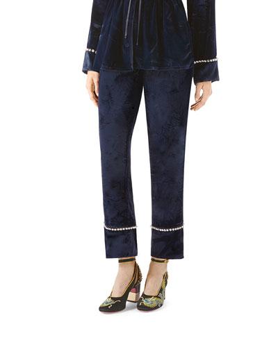 Velvet Pajama Pant