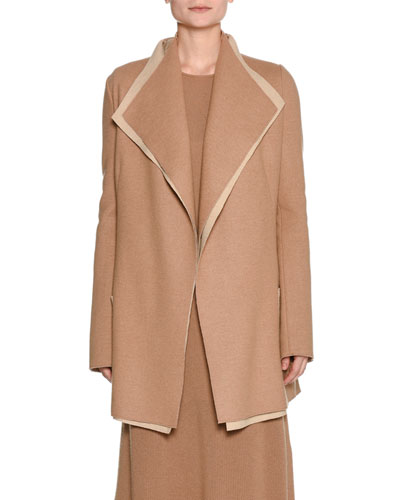 Platino Light Cashmere Jacket, Camel