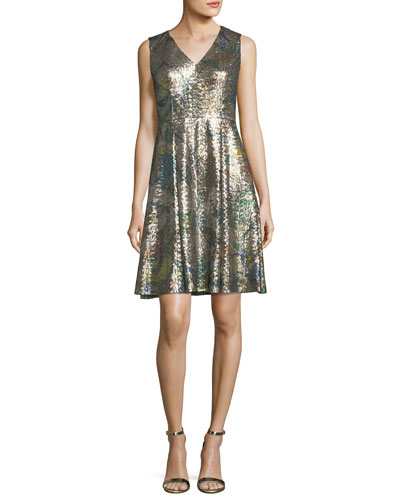 Sleeveless Sequined Magnolia Dress