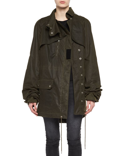 OLV PLAID LINED PARKA