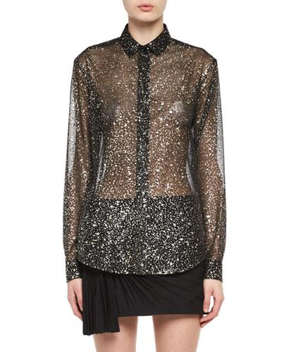 Meteorite Silk-Polyester Shirt