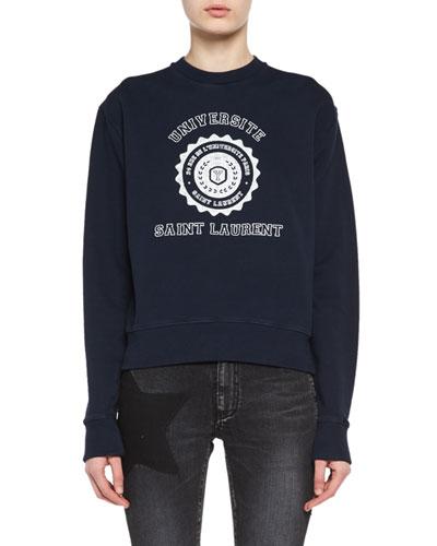 Crewneck University Emblem Sweatshirt