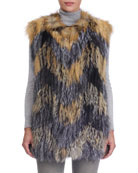 Cross Fox and Silver Fox Fur Vest