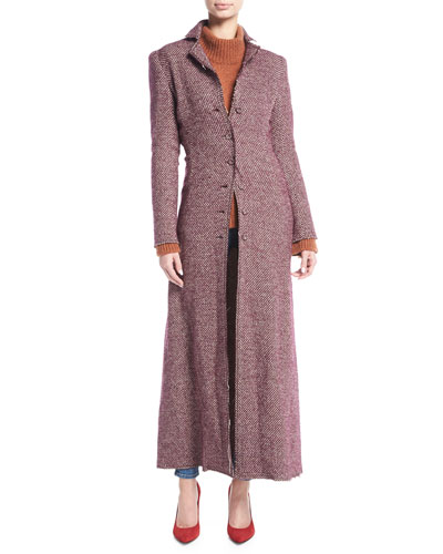 CAROLYN COAT TWEED LONG TWEE
