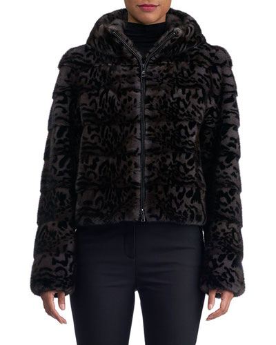 Mink Fur Cropped Jacket