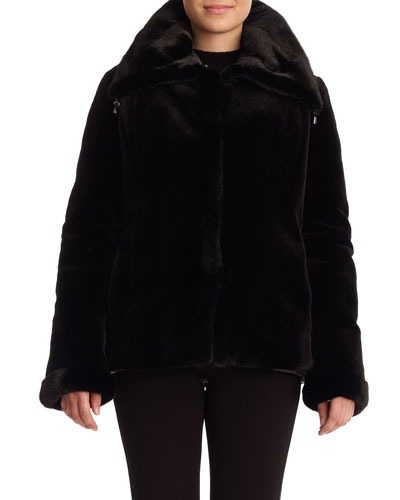 Sheared Mink Reversible Jacket