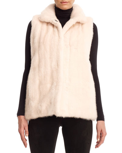 Reversible Mink Fur Down Vest