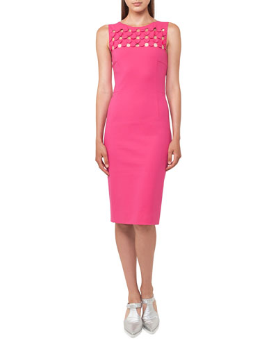 3D Cutout Sleeveless Sheath Dress